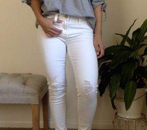 White Jean legging